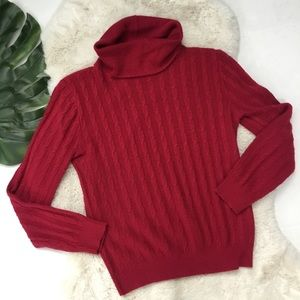 Diane Von Furstenberg Wine Turtleneck Sweater S